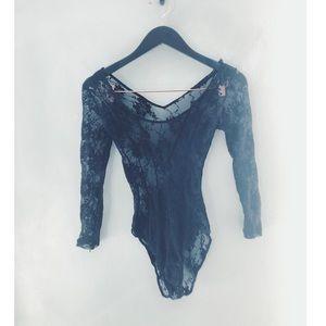 Free People lace bodysuit. Size XS.